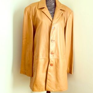 DANIER TAN LEATHER MEN TRENCH